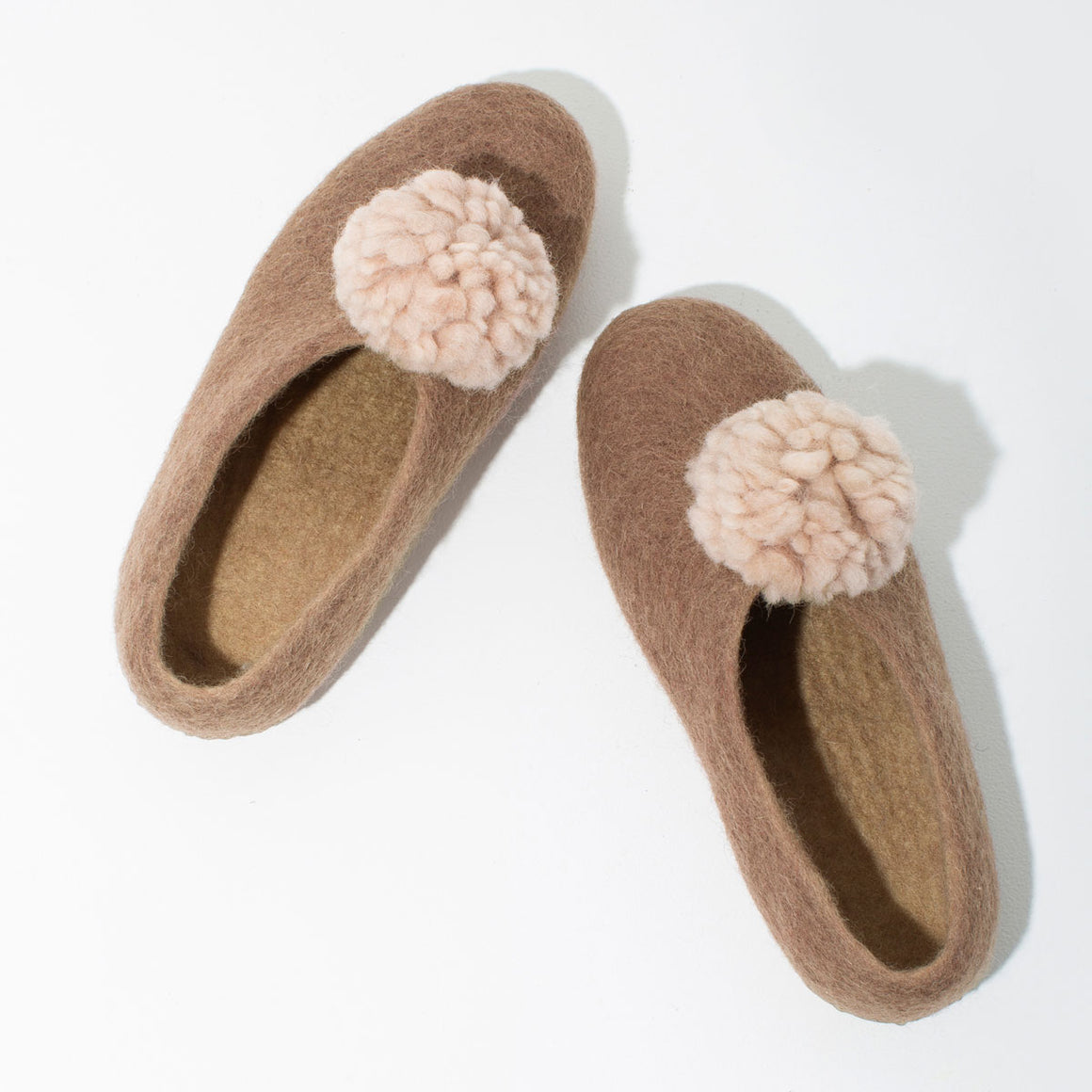 Pom Pom Felt Slippers - Blush | SHIPPING 10/15