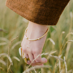 Rain Bangle - Brass