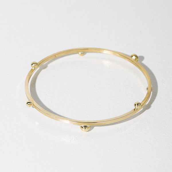 Rain Bangle | Brass