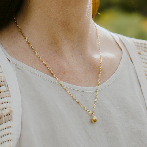 Rain Droplet Necklace | Brass