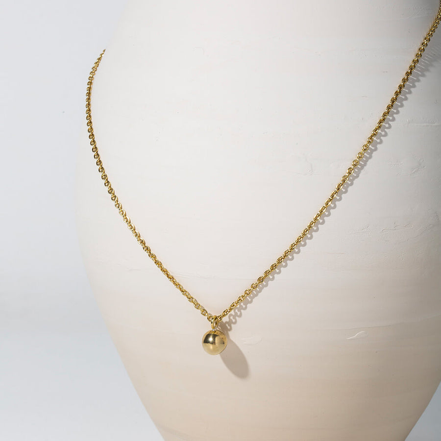 MULXIPLY Rain Droplet Necklace - Brass