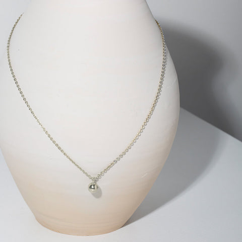 Rain Droplet Necklace | Sterling