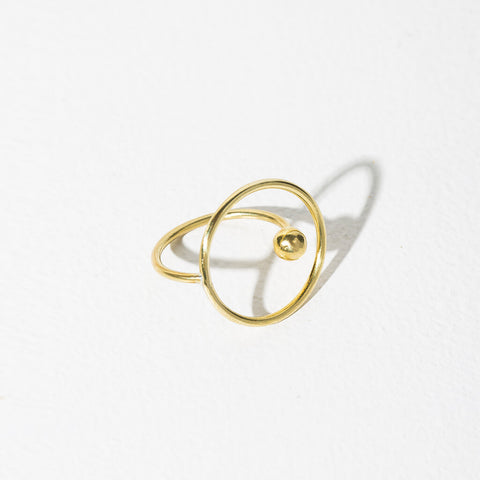 Ripple Adjustable Ring | Brass