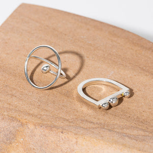 Ripple Adjustable Ring - Sterling Silver