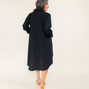 The Shirt Dress - Black