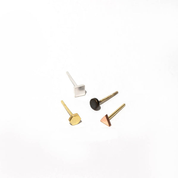 Tiny Shapes Set of 4 Studs | Mixed Metals