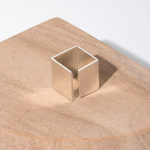 Smooth Path Adjustable Square Ring | Sterling