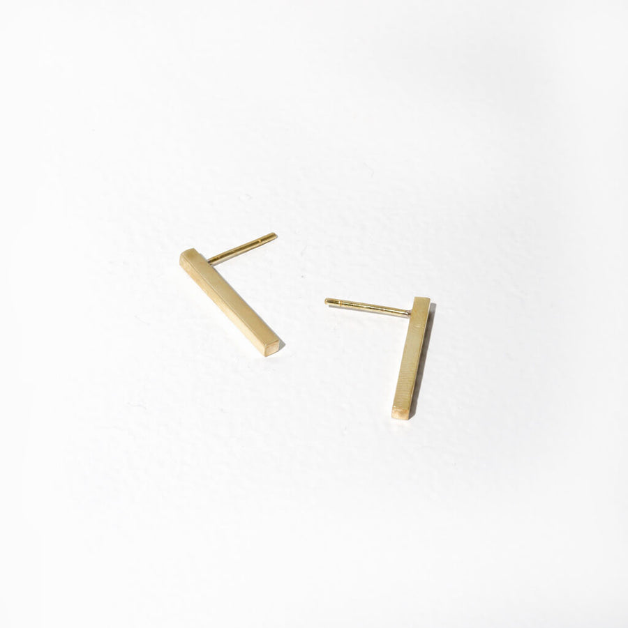 Stick Stud Earrings | Available in 3 Finishes