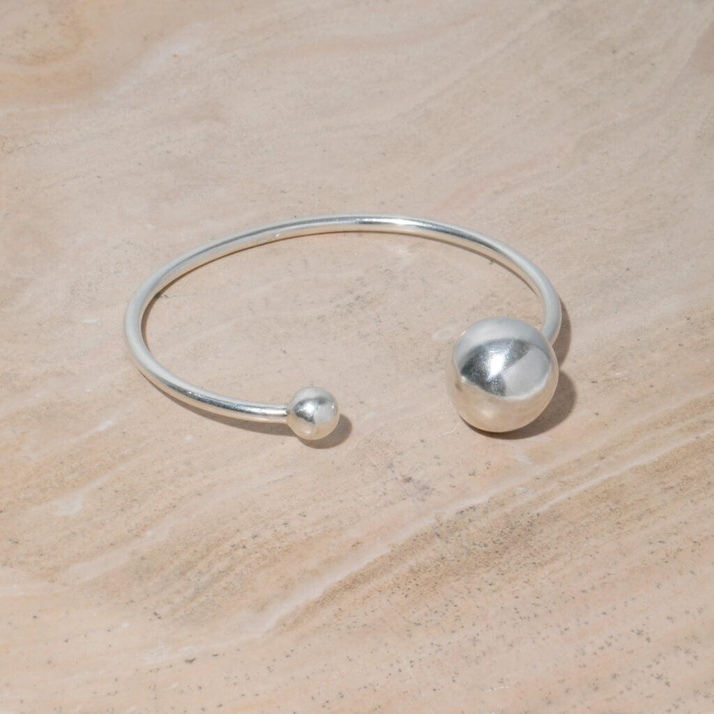 MULXIPLY Strength Adjustable Bangle in Sterling Silver