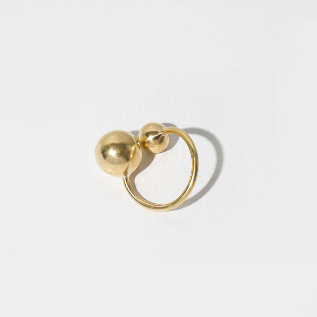 MULXIPLY Strength Adjustable Ring in Brass