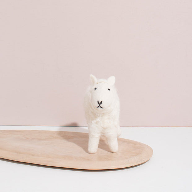 Hand Felted White Sheep | Small 1