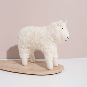 Hand Felted White Sheep Duo