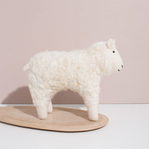 Hand Felted White Sheep - Large