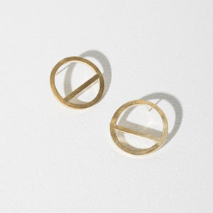 Wink Circle Earrings | Brass