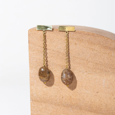 Yala Heritage Moonstone Drop Earrings