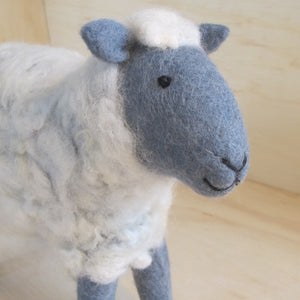 Hand Felted Grey Sheep - Large