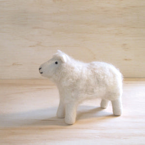 Hand Felted White Sheep - Small