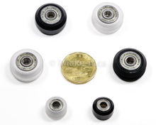 Load image into Gallery viewer, 24MM Solid V Wheel Assembly Kit With Two Ball Bearings 625 RS One Nylon Lock Nut