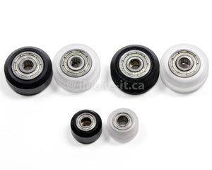 24MM Solid V Wheel  and Ball Bearings 625 RS