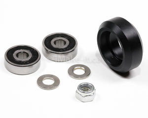 24MM Solid V Wheel Assembly Kit With Two Ball Bearings 625 RS One Nylon Lock Nut