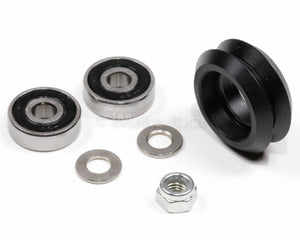 Delrin Dual V Wheel Assembly Kit With Two Ball Bearings One Nylon Lock Nut