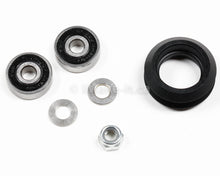 Load image into Gallery viewer, Delrin Dual V Wheel Assembly Kit With Two Ball Bearings One Nylon Lock Nut