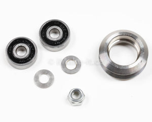 Metal Dual V Wheel Assembly Kit With Two Ball Bearings One Nylon Lock Nut