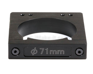 Aluminum Router Spindle Mount Black Anodized 71mm