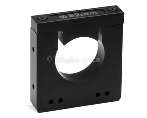 Aluminum Router Spindle Mount Black Anodized 52mm
