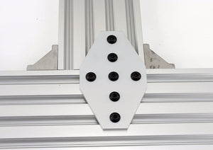Aluminum 7 Hole Cross Joining Plate for V-slot/T-slot Rail