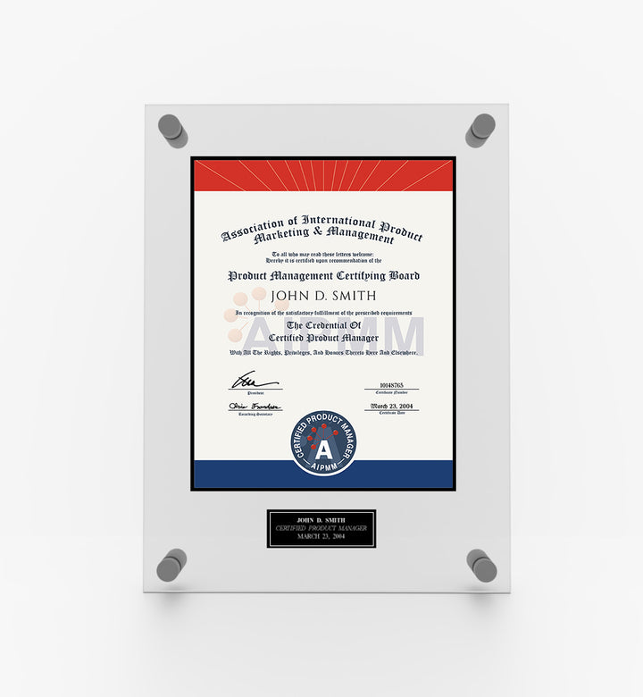 AIPMM Certification Plaque
