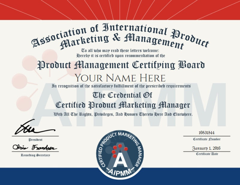 CPMM  - Certified Product Marketing Manager Certification Exam Online