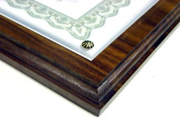Walnut Certificate Plaque