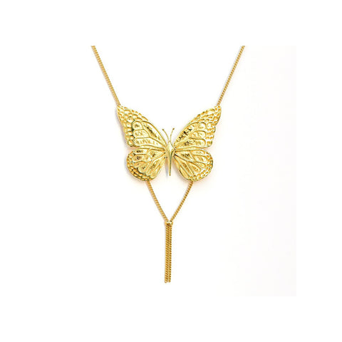 Butterfly Tassle Necklace