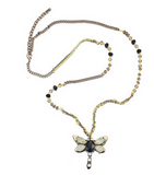 Dragonfly Charm Pendant Long Chain Necklaces