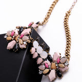 Fashionable Pink Flowers Acrylic Choker