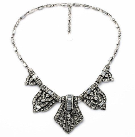 Luxury Vintage Necklaces with Drop Rhinestone Chunky Choker