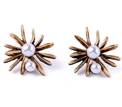 Korean Pearl Mosaic Stud Fashion Earring