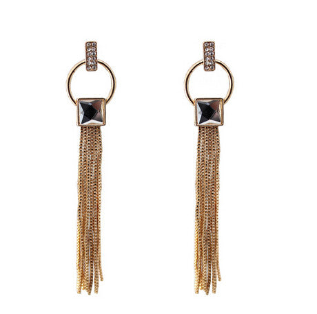 Vintage Stylish Long Tassel Earrings