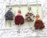 French Doll Necklace with Brown Faux Fur Dress