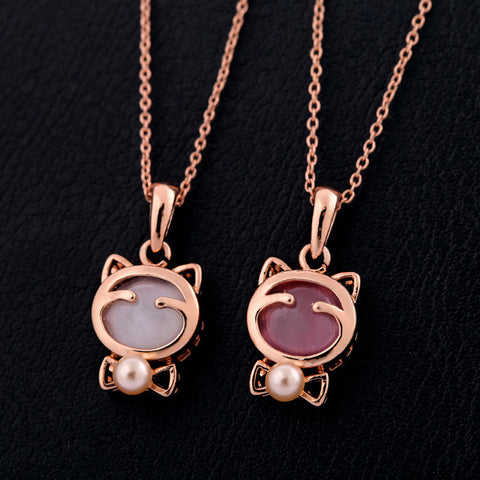 Girl Kitty Design Necklace