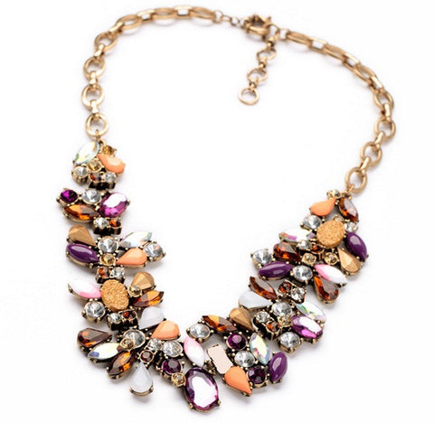 Colorful Rhinestone Vintage Choker Necklace