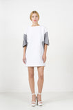 White Neoprene Dress