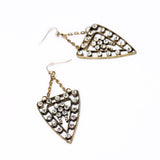 Vintage Triangle Drop Earrings