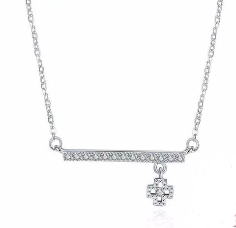 925 Sterling Silver Necklace CZ Stone