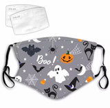 Halloween Reusable Face Mask with Replaceable Filters