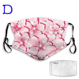 Floral Prints Fashionable and Washable Face Mask with Removable Filter