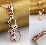 925 sterling silver necklaces with lovely cat pendants