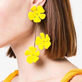 Chic Multi-layers Flower Drop Earrings