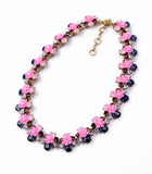 Sweet Flowers Rhinestone Statement Necklaces